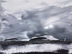 Silver Clouds by Duncan MacGregor - Original Painting on Board sized 24x18 inches. Available from Whitewall Galleries